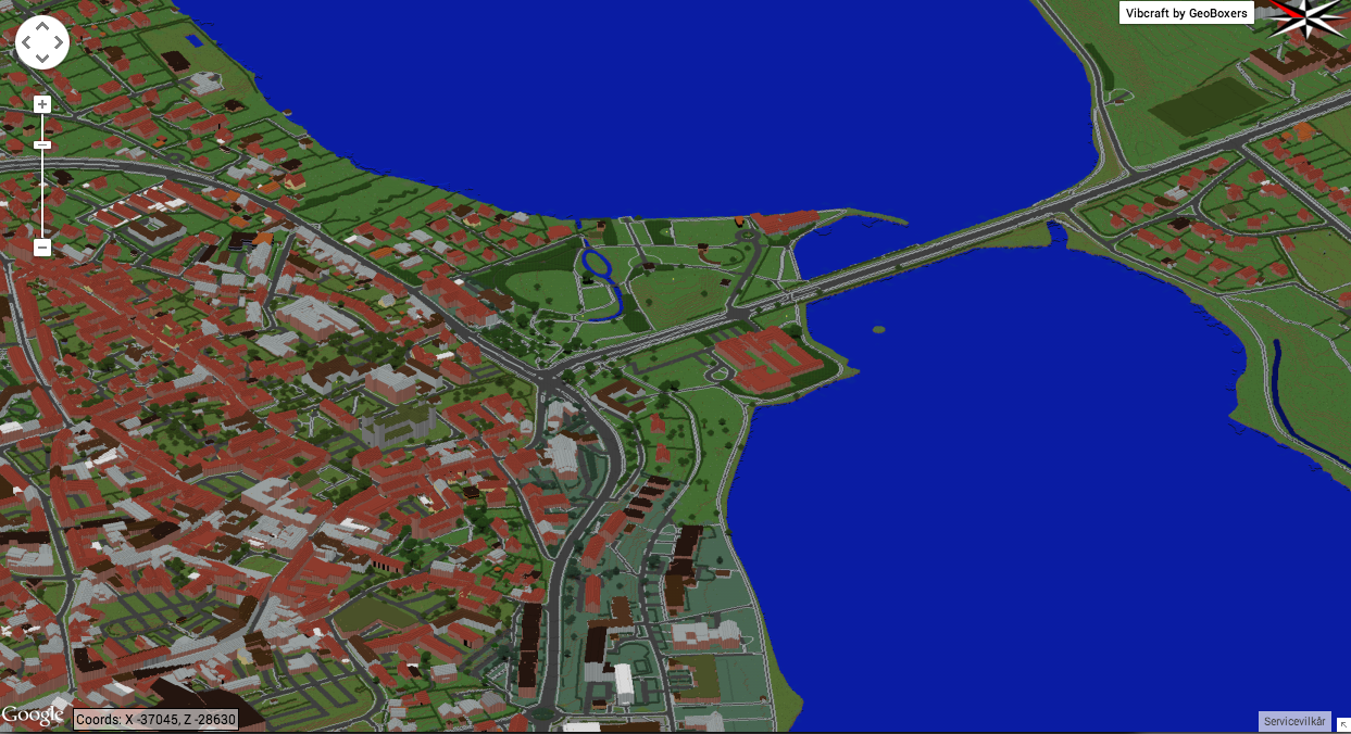 Viborg in Minecraft - an overview