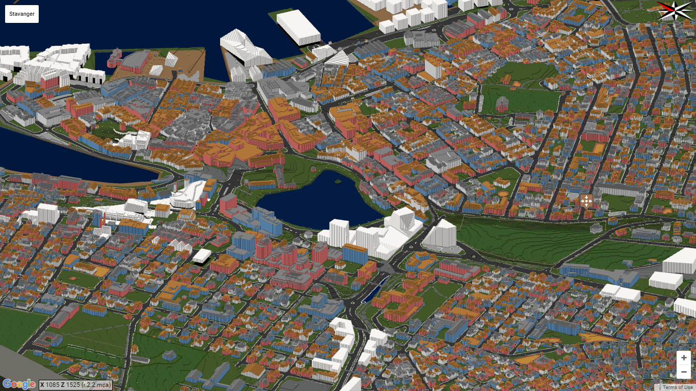 Stavanger in Minecraft - an overview